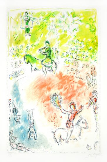 Marc Chagall Lithograph, La Parade (The Parade), 1980
