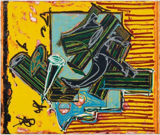 Frank Stella Relief, La penna di hu, from the Italian Folktales Series, 1988
