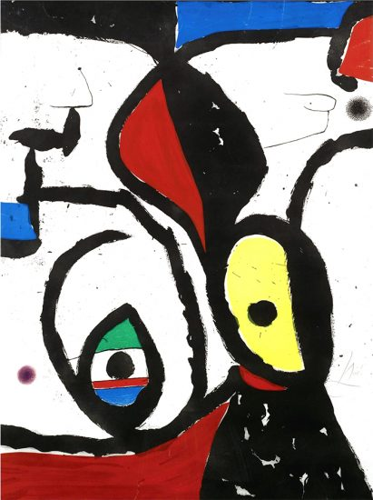 Joan Miró Etching, La Pierre Philosophale (The Philosopher's Stone), 1975
