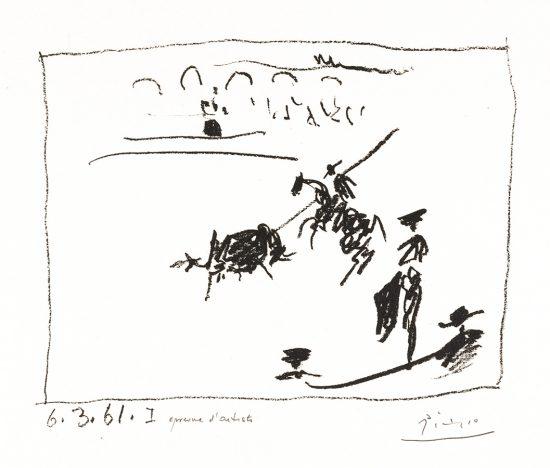 Pablo Picasso Lithograph, La Pique (The Pike), 1961