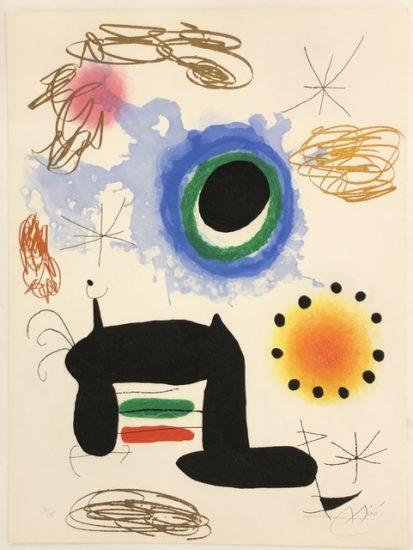 Joan Miró Etching, La Ralentie (Slow Motion), 1969