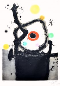 Joan Miró Etching, La Rebelle (The Rebel), 1967