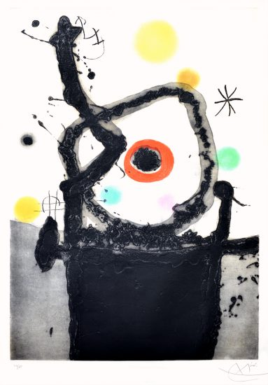 Joan Miró Etching, Le Rebelle (The Rebel), 1967