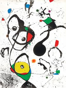 Joan Miró Etching, La Reine des éphémères (The Queen of Éphémeres), 1975