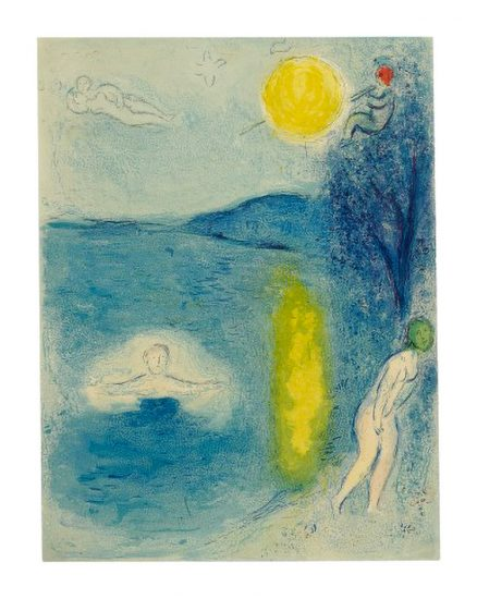 Marc Chagall Lithograph, La Saison d'Été (The Summer Season), from Daphnis et Chloé, 1961