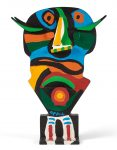 Karel Appel Sculpture, La Vierge Noire (The Black Virgin), circa 1975