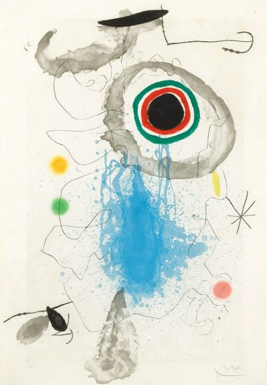 Joan Miró Etching, L'Astre du Labyrinthe (The Star of the Labyrinth), 1967