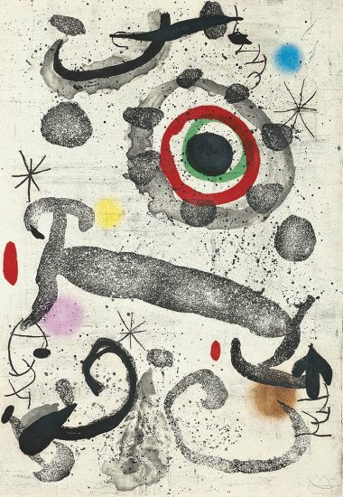 Joan Miró Aquatint, L'Astre du Marécage (The Marshland Star), 1967
