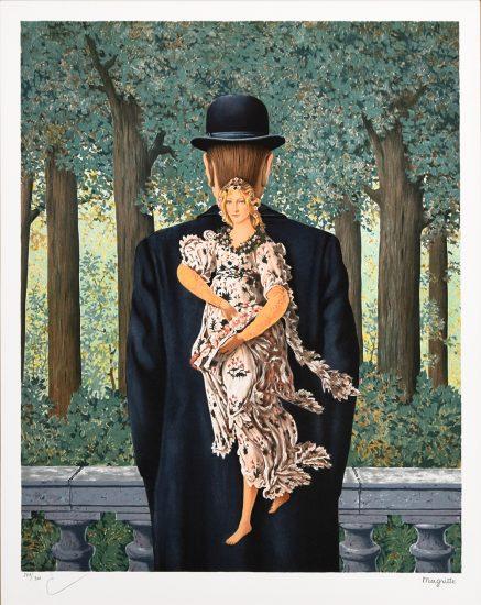 René Magritte Lithograph, Le bouquet tout fait (The Ready-Made Bouquet)