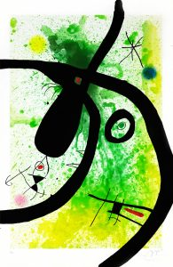 Joan Miró Etching, Le Chasseur de Pieuvres (The Octopus Hunter), 1969
