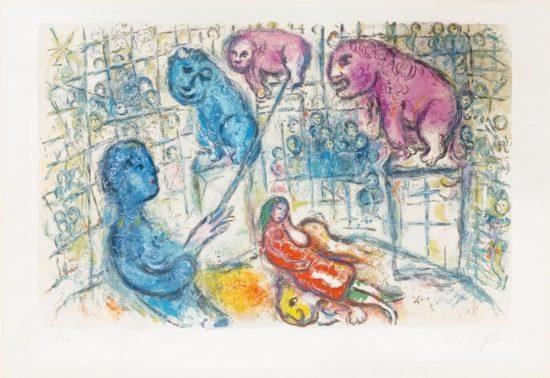 Marc Chagall Lithograph, Le Cirque (The Circus), from Cirque, 1967, M506