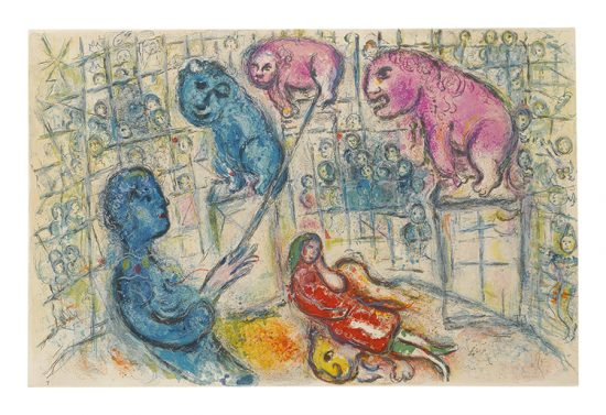 Marc Chagall Lithograph, Le Cirque (The Circus), from Cirque, 1967, M506