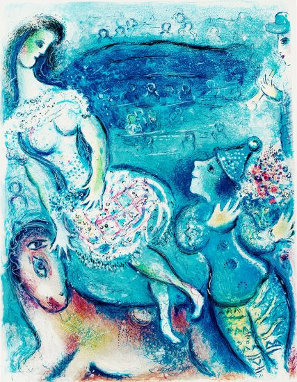 Marc Chagall Lithograph, Le Cirque (The Circus), from Cirque, 1967, M511