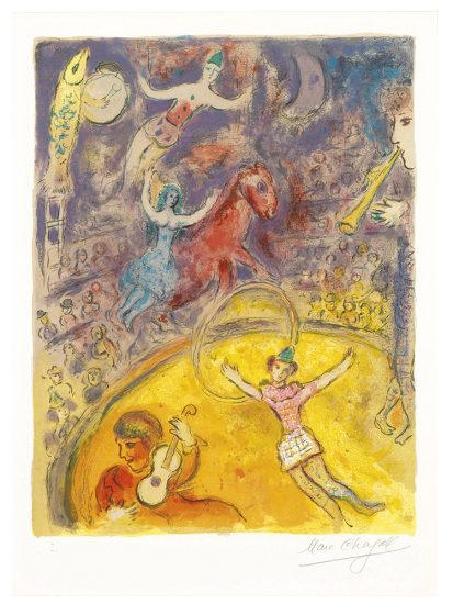 Marc Chagall Lithograph, Le Cirque (The Circus), from Cirque, 1967, M512