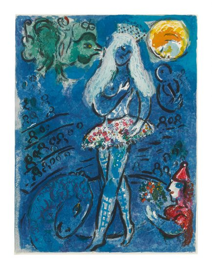 Marc Chagall Lithograph, Le Cirque (The Circus), from Cirque, 1967, M516