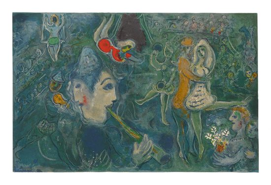 Marc Chagall Lithograph, Le Cirque (The Circus), from Cirque, 1967, M517