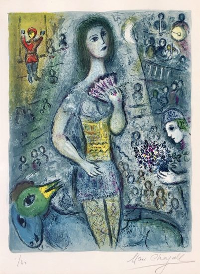 Marc Chagall Lithograph, Le Cirque (The Circus), from Cirque, 1967, M521