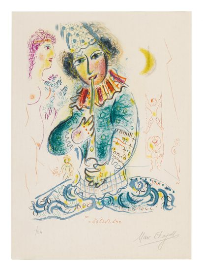 Marc Chagall Lithograph, Le Cirque (The Circus), from Cirque, 1967, M527