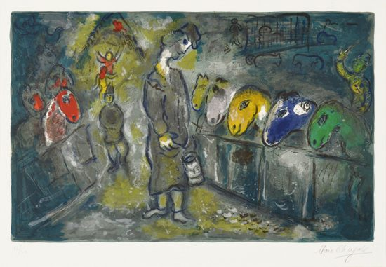 Marc Chagall Lithograph, Le Cirque (The Circus), from the Circus, 1967