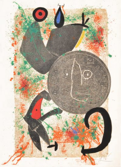 Joan Miró Etching, Le Croc a Phynances II (The Crooked Phynancial Phang II), 1971