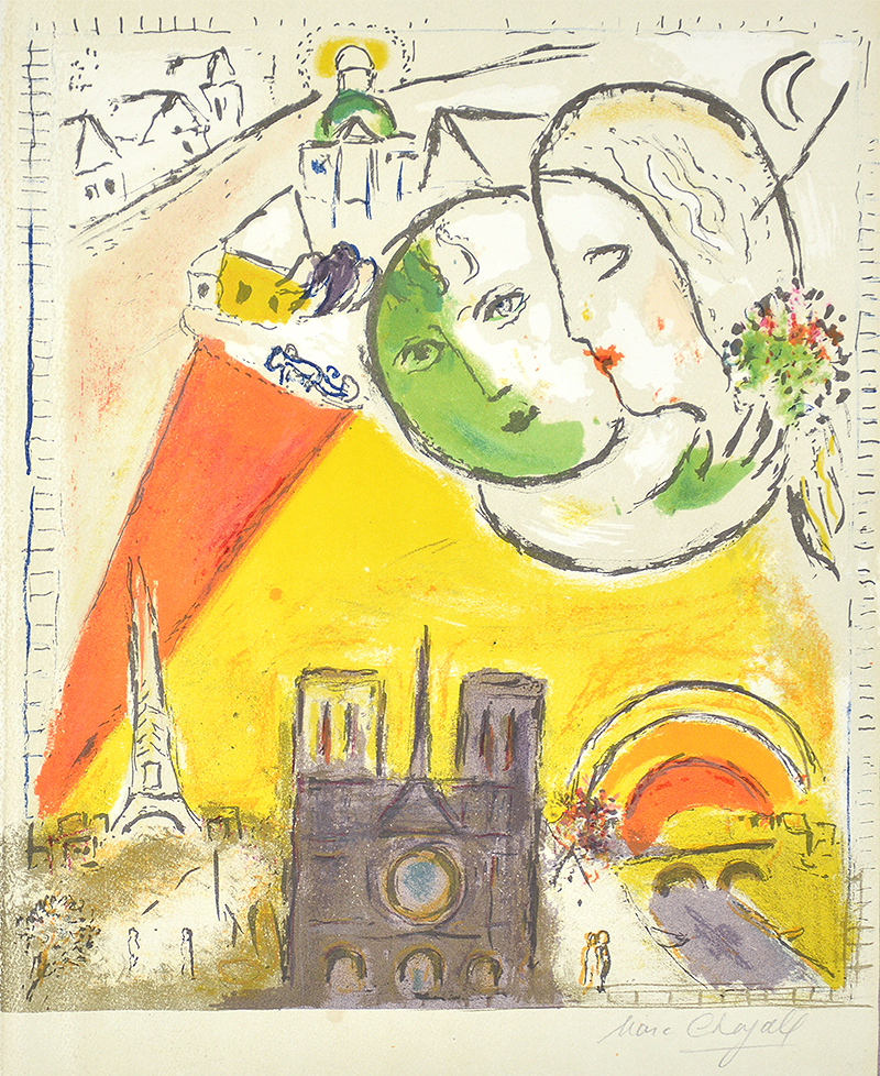 Marc chagall le dimanche on sundays from derri re le for Chagall derriere le miroir