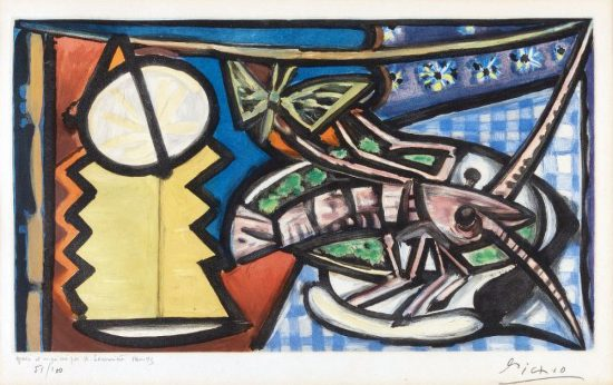 Pablo Picasso Lithograph, Le Homard (The Lobster), c. 1945