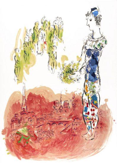 Marc Chagall Lithograph, Le Magicien de Paris (The Magician of Paris) II, 1969-1970