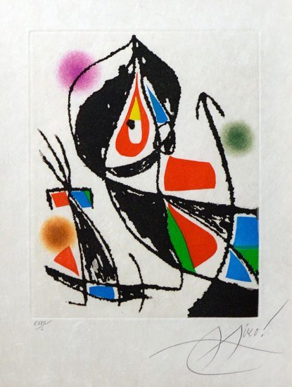 Joan Miró Etching, Le Marteau Sans Maitre XXI (The Hammer Without a Master XXI), 1976