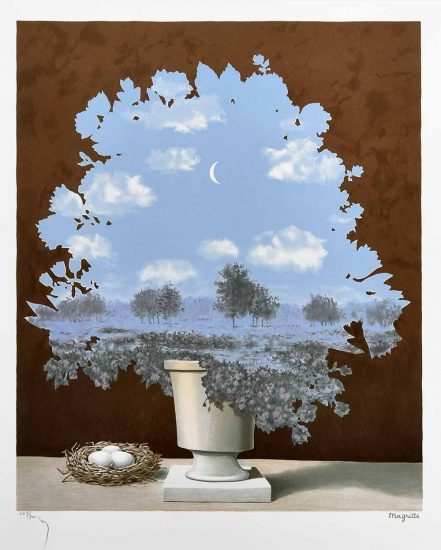 René Magritte Lithograph, Le pays des miracles (The Country of Marvels)