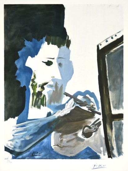 Pablo Picasso Lithograph, Le Peintre (The Painter), 1963