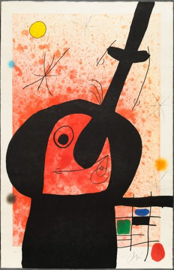 Joan Miró Lithograph, Le Penseur Puissant (The Mighty Thinker), 1969