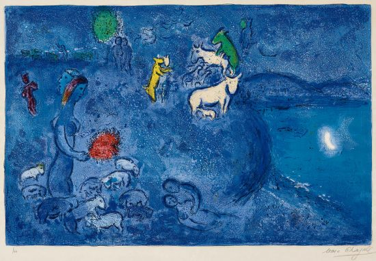 Marc Chagall Lithograph, Le Printemps (Spring), from Daphnis et Chloé, 1961