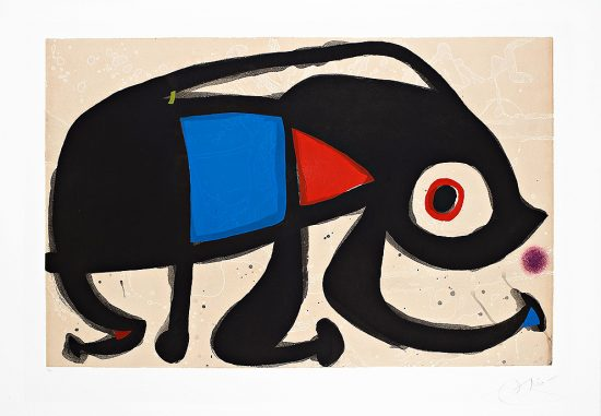 Joan Miró Aquatint, Le Rat des Sables (The Sand Rat), 1975