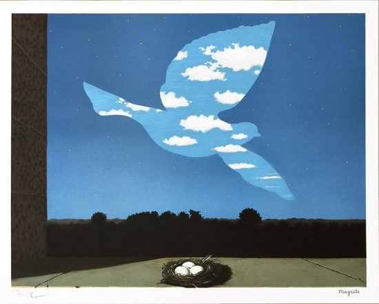 René Magritte Lithograph, Le retour, 2003