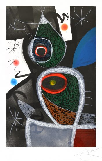 Joan Miró Lithograph, Le Somnambule (The Sleepwalker), 1974