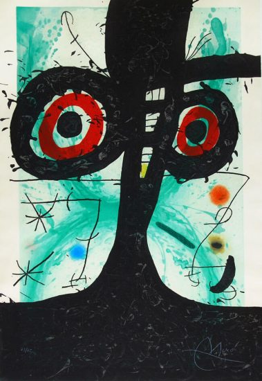 Joan Miró Lithograph, Le Vieil Irlandais (The Old Irish), 1969