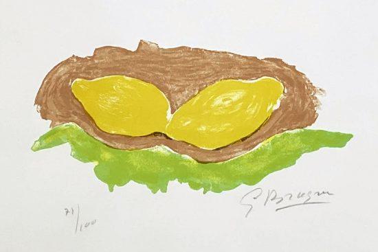 Georges Braque Lithograph, Les Citrons (Lemons), 1954