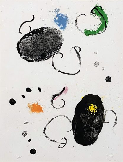 Joan Miró Lithograph, Plate 15 from Album 19, 1961