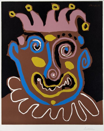 Pablo Picasso Linocut, Le Vieux Roi (The Old King), 1963