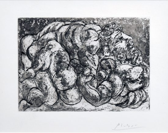 Pablo Picasso Etching, Le Viol IV, from the Vollard Suite, 1933