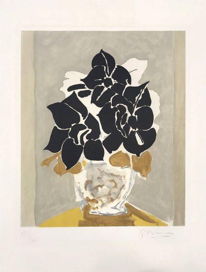 Georges Braque Etching, Les Amaryllis (Amaryllis), 1958