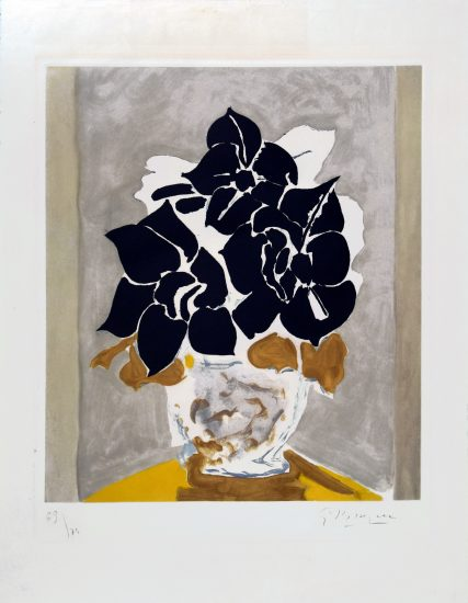 Georges Braque Lithograph, Les Amaryllis (Amaryllis), 1958