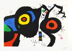 Joan Miró Etching, Les deux Amis (The Two Friends), 1969