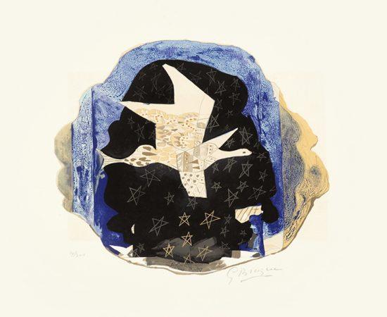 Georges Braque Lithograph, Les Étoiles (Stars), 1959