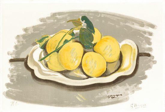 Georges Braque Lithograph, Corbeille de fruits (Basket of Fruits), c. 1955