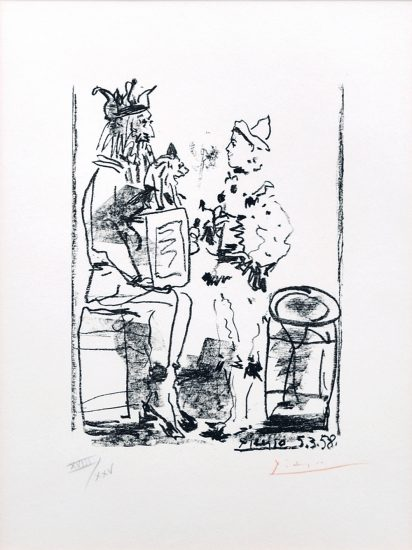 Pablo Picasso Lithograph, Les Satimbanques (The Tumblers), 1958 from Souvenirs D'Un Collectionneur