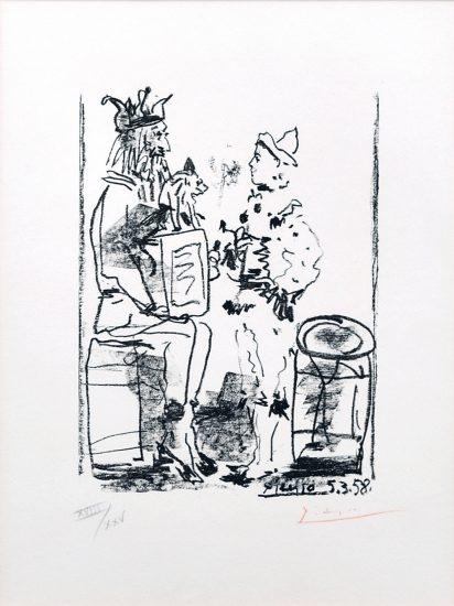 Pablo Picasso Lithograph, Les Satimbanques (The Tumblers), 1958 from Souvenirs D'Un Collectionneur