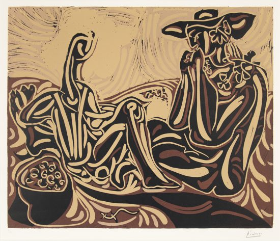 Pablo Picasso Lithograph, Les vendangeurs (The Grape Harvesters), 1959