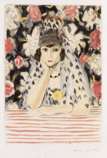 Henri Matisse Aquatint, L'Espagnole (The Spaniard), 1928