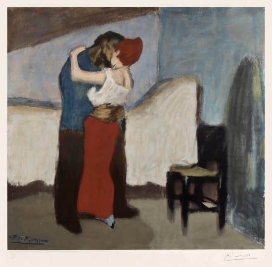 Pablo Picasso Lithograph, L'étreinte (The Embrace), 1966